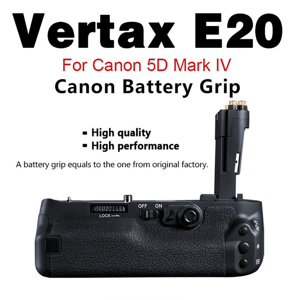 Pixel Camera Battery Grip E20 For Canon 5D Mark IV / 5D4 / 5D MarkIV can be installed with two batteries of LP-E6/LP-E6N camera battery grip pixel bg e20 for canon eos 5d mark iv dslr cameras batteries e20 lp e6 lp e6n replacement for canon bg e20