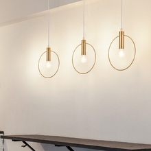 Room Lighting Simple Circular Pendant Light Creative Bar Lamp For Restaurant Home Living Room Bedroom Fashion Dining