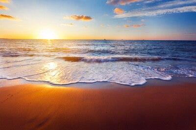 HUAYI belle plage paysage Art tissu nouveau-né toile de fond enfants photographie Prop Photo fond D-7252