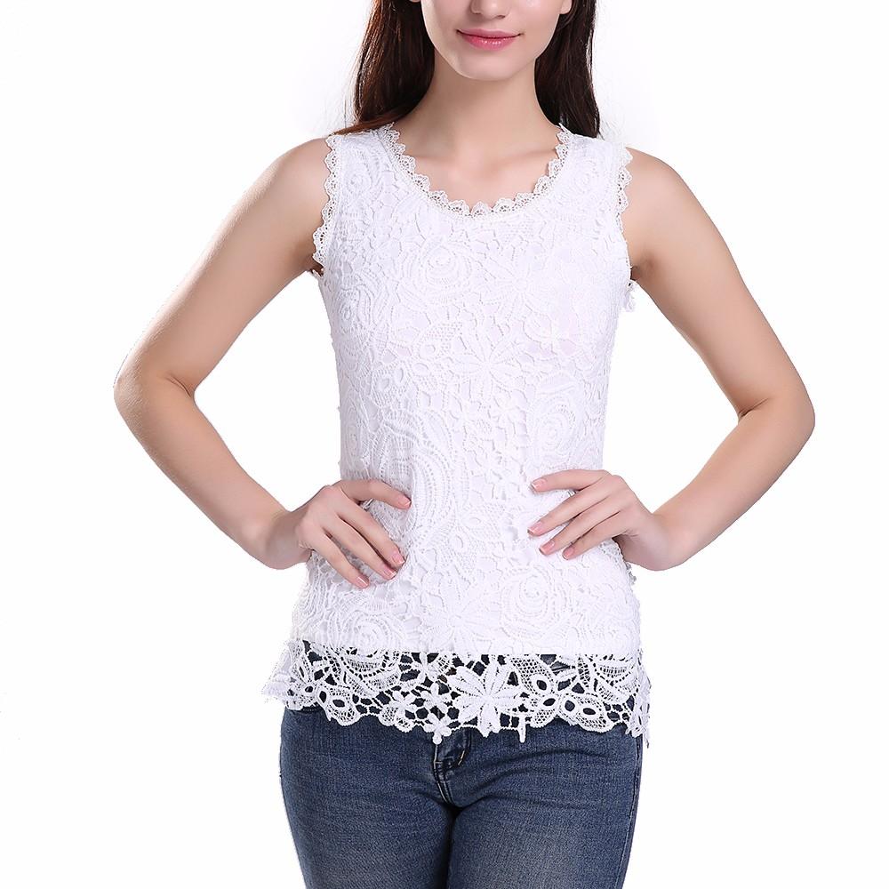 HTB1OWUQNFXXXXaNXpXXq6xXFXXXS - New Women Lace Vintage Sleeveless Blouse Casual Shirts