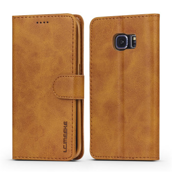 Leather Flip Case Galaxy S6 Edge 1