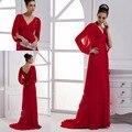 Красный Мать Невесты Платья Шифон Жених Мать Платья элегантный Мама Платье официально Партия вечера Одеяние де вечер 2017