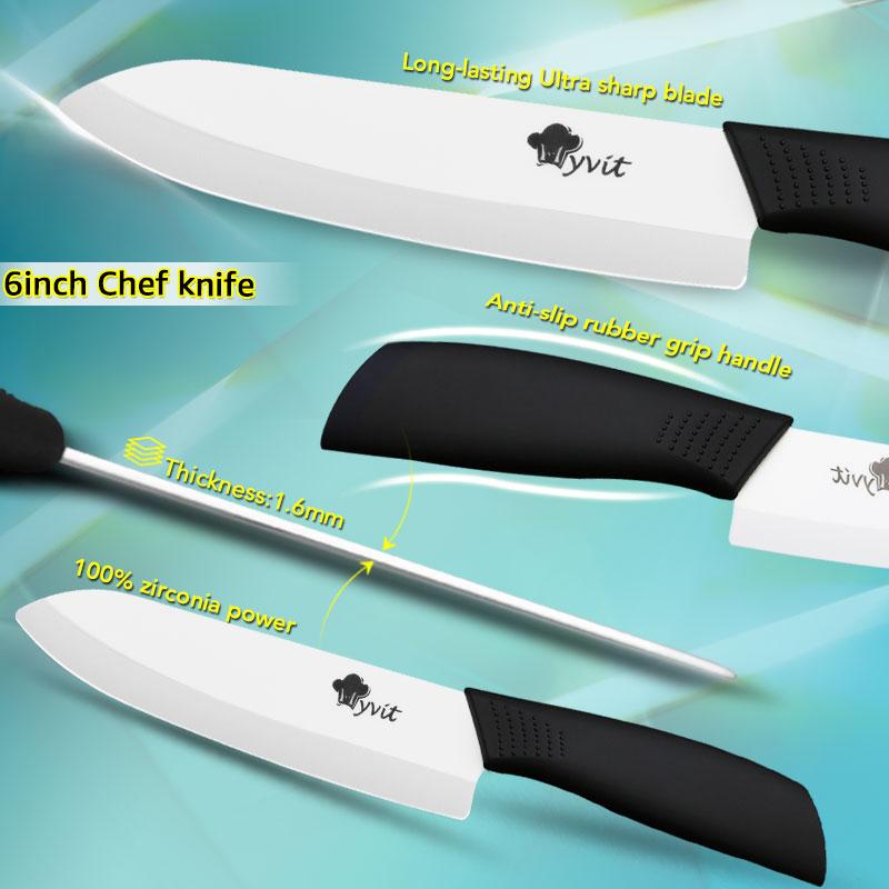 Premium Master Chef Class Ceramic Zircon Kitchen Knives 5