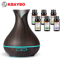 400ml Electric Aroma Essential Oil Diffuser Air Humidifier Essential Oils LED Lights Air Purifier For Home