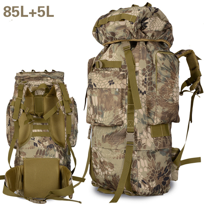 80L Mountaineering Bag Outdoor Backpack 90L High-capacity Camping Army Color Sports Men Hiking Backpack 65l professional outdoor mountaineering bag camouflage bag large capacity multi function camping hiking backpack outdoor travel