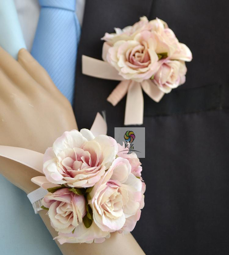 Wrist Corsages Wedding: Handmade Wedding Corsages Groom Boutonniere Bride