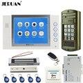 JERUAN NEUE 8 zoll Farbe LCD Video Tür Telefon Intercom System kit Wasserdichte Passwort HD Mini Kamera + 180 kg Magentic schloss-in Videosprechanlage aus Sicherheit und Schutz bei