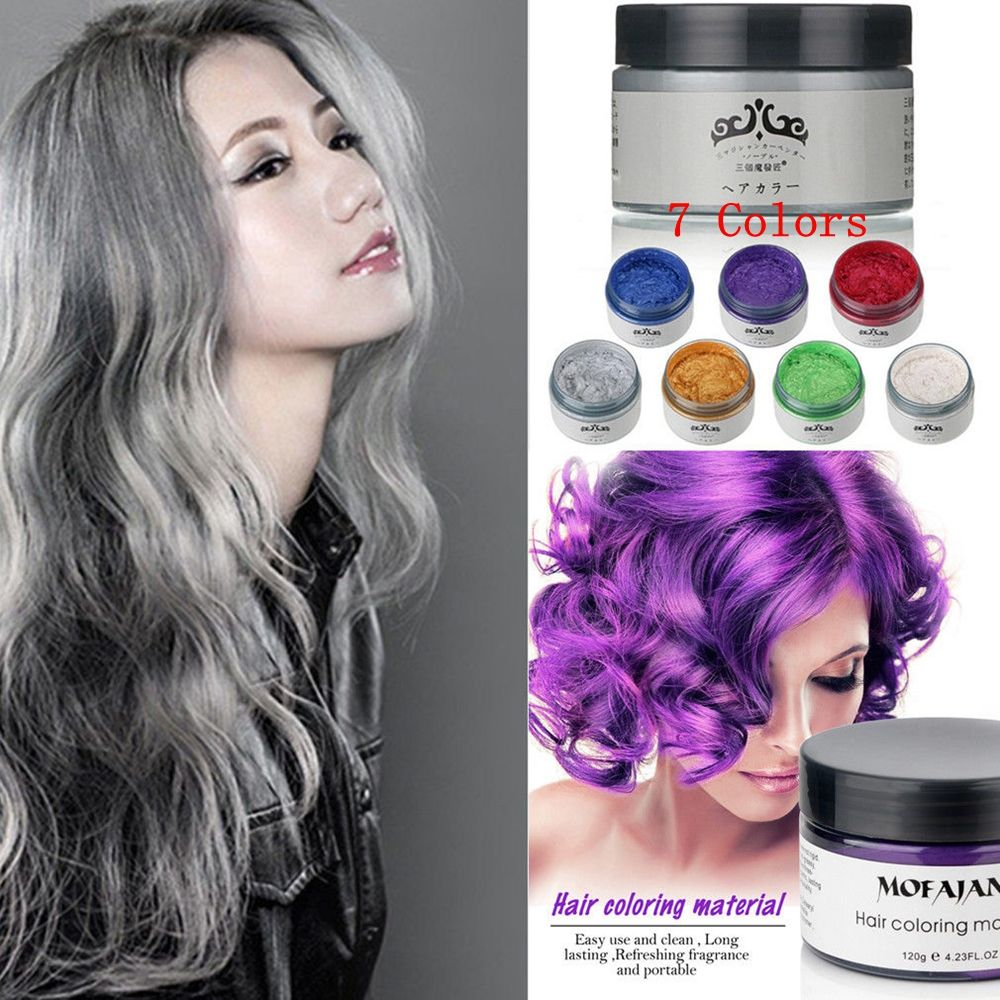 US $6.03 29% OFF|1PC 120 ML 5 Color Temporary Hair Color Dye Cream  Disposable DIY Hair Coloring Products Colored Wax Mud Hair Styling Tools-in  Hair ...