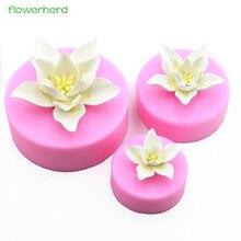 Soap-Mold Silicone Decorating-Tools Cake Flower Fondant Handmade 3D Plant Big Fragrance