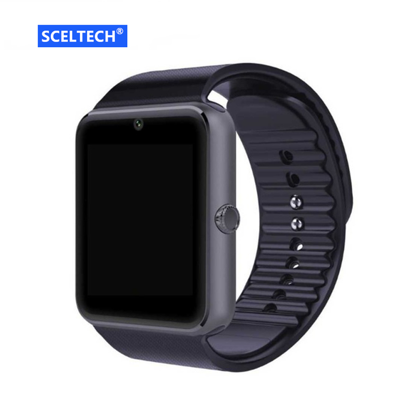 SCELTECH Bluetooth Smart Watch GT08 For Apple iphone IOS Android Phone Wrist Wear Support Sync smart clock Sim Card PK DZ09 GV18