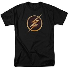 Justice League The Flash Superheroes Logo Summer Casual O-neck Men's T-shirt