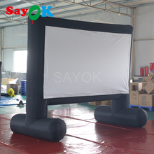 Inflatable Movie Screen Portable Cinema Projection tv Screen with Air Blower for Home, Backyard, School,Park, Museums m014 free shipping 397 224 cm screen size giant inflatable movie screen outdoor inflatable screen with blower