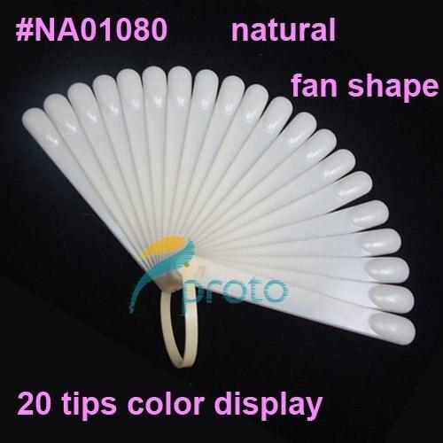 10 pcs/ Lot 20 tips Fan-Shaped Nail Polish Color Display Natural Chart for Polish Gel Color Display Tool False Nails Tips F0024X