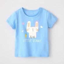 Baby Girls T-shirt Summer Cartoon Rabbit Clothes