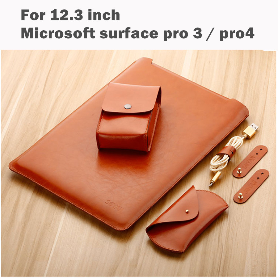 Laptop Sleeve Bag For 12.3 Inch Microsoft Surface Pro 4 Surface Pro 3 Fashion Tablet PC Case Waterproof Design Pouch Stylus