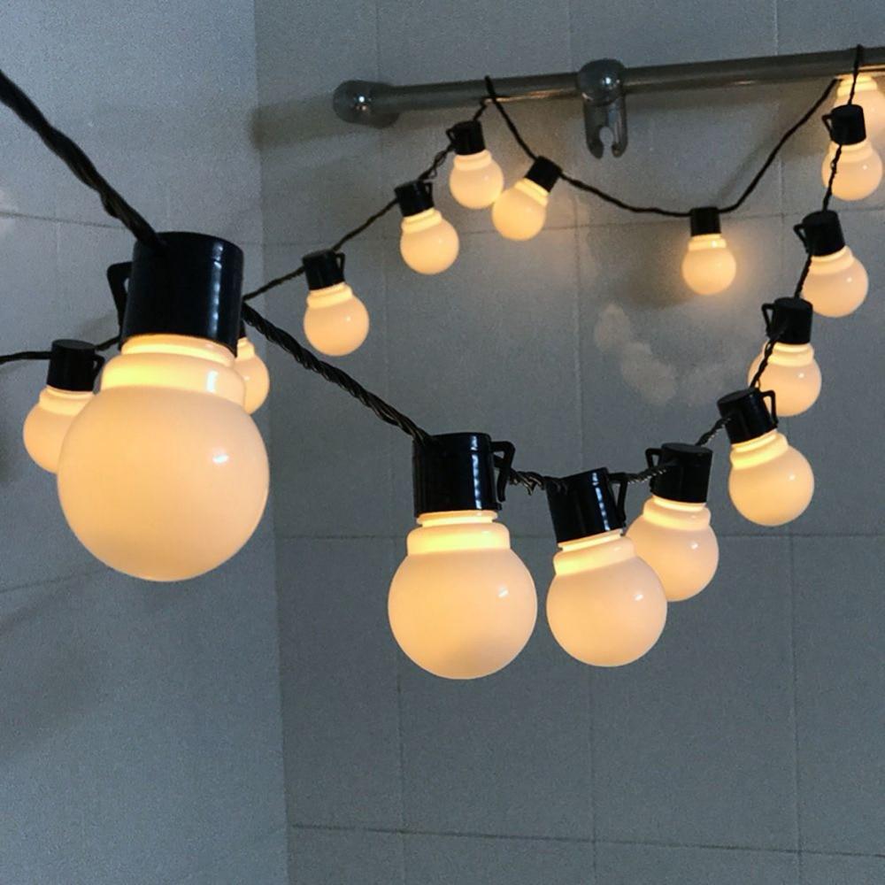 20 Lights Led globe bulb led string lights outdoor waterproof led ball string garland party wedding Backyard Patio