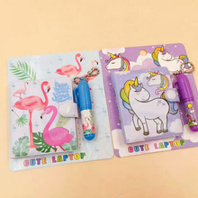1 PC Cute Unicorn Flamingo Memo Pad Sticky Notes Notepad Notebooks Gift Kawaii Stationery