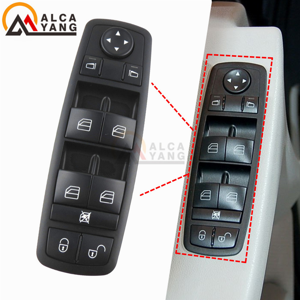 1698206610 Front Left Driver Window Master Switch For Benz A B Class W169 W245 2004-2012 <font><b>A1698206610</b></font> 1698206610 image