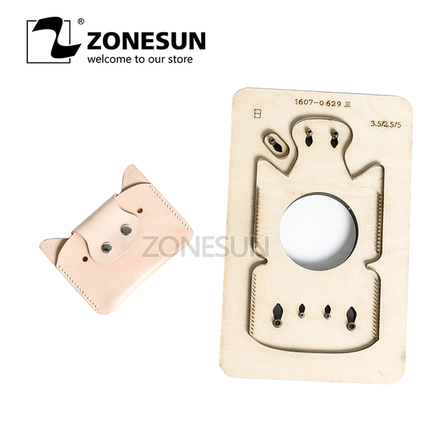 ZONESUN  Customized pig shape Leather Craft DIY Wooden Template Knife Punching tool punch Cutting mold die animal Japanese steel