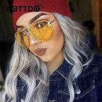 2017 Women Oversized Aviation Sunglasses Women Men Driving New Fashion Brand Designer Clear Red Female Sun