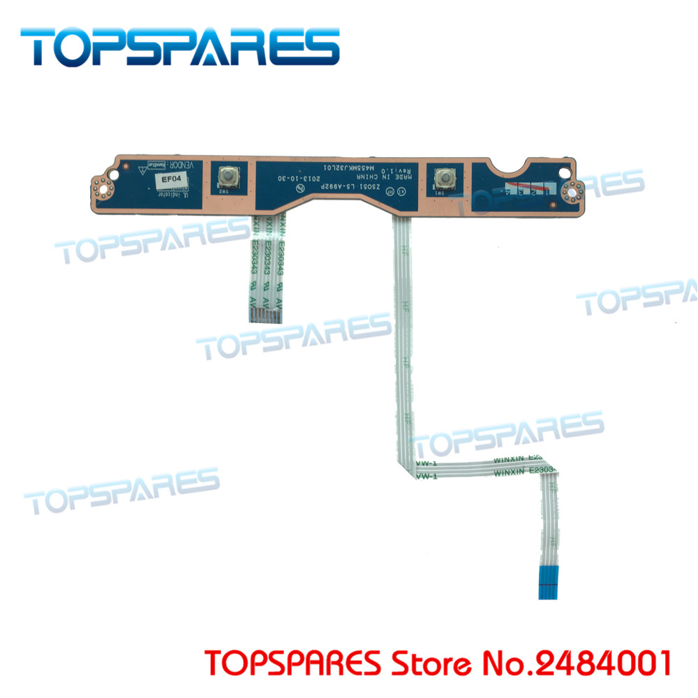 Genuinepower Switch Button Board For Hp Pavilion 15-n 14-n 15-f Daou83pb6ec Power Switch Button Board On/off Series Computer Cables & Connectors