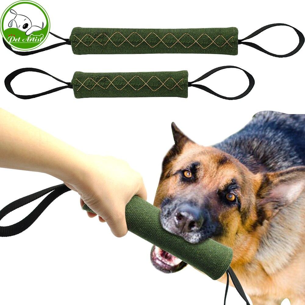 Dog Tug Toy Agility: Strong Dog Jute Bite Schutzhund Tug Interactive Toy 2