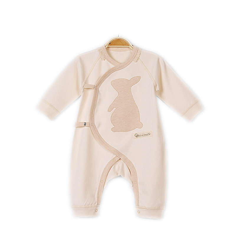 Newborn Little Baby Girl Boys Autumn Winter Long Sleeve Organic Cotton Rompers Unisex Baby V-neck Oblique Belt Jumpsuit Clothing baby clothing spring autumn unisex newborn baby clothes100% cotton cartoon rompers long sleeve baby product baby clothing infant