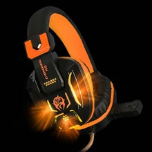 New Canleen Stereo Surrounded Deep Bass LED Light Gaming Headphone Headset Over-Ear Earphone with Light for PS4 LOL PC Gamer