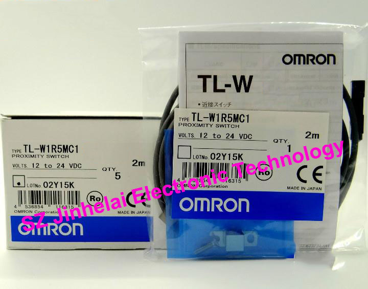 TL-W1R5MC1 New and original OMRON Proximity sensor,Proximity switch, 2M 12-24VDC tl n10my2 10mm sensing ac 2 wire nc cube shell inductive screen shield metal proximity switch tl n10m proximity sensor 18 18 36