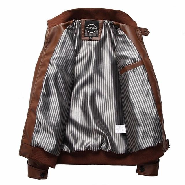 AmberHeard 2019 Fashion New Spring Autumn Motorcycle PU Leather Clothing Men Jacket Male Business Casual Coats Bomber Jacket