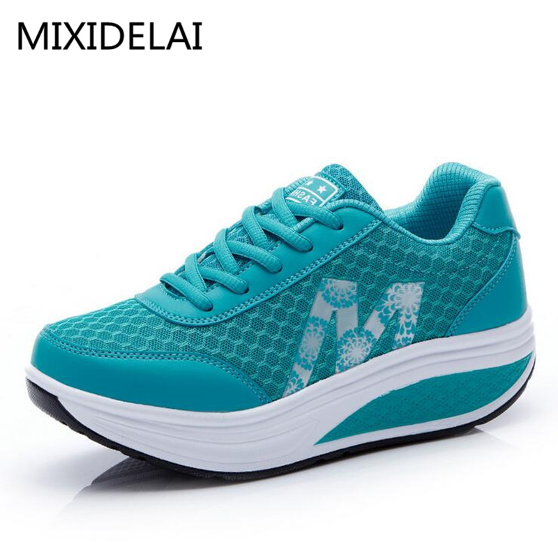 MIXIDELAI 2019 New Summer Zapato Woman Breathable Mesh Zapatillas Shoes For Women Network Soft Casual Shoes Flats EUR Size 35-40
