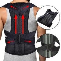 2019 Men Lumbar Support Straight Corrector for Posture Brace Back Belt Male Female Adjustable Shoulder Posture Corrector Corset