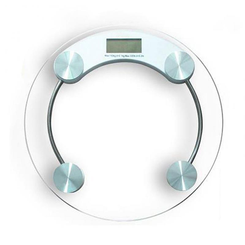 Round Bathroom Body Scales Electronic LCD Display Digital Glass Floor Scale Smart Weight Balance #20
