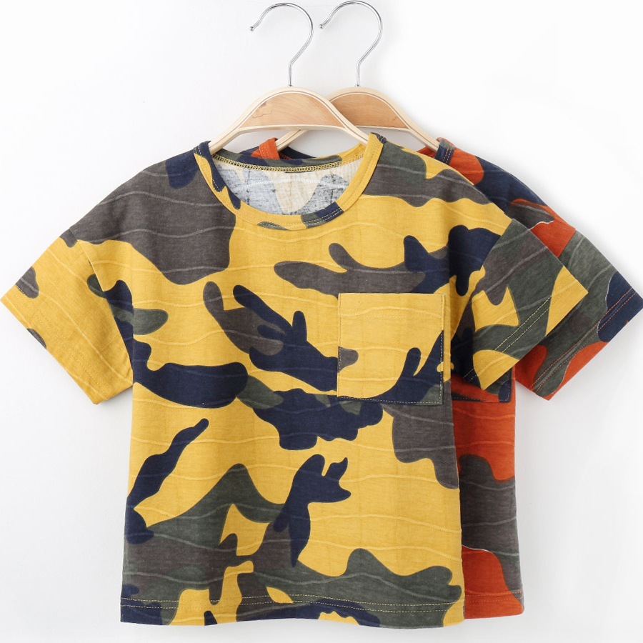 Children T Shirts For Boys O-neck Camouflage Design Kids T-shirts For Girls Short Sleeve Tops Spring Summer Cotton Tshirt X8806 boys cotton clothes sets for children summer outfit kids camouflage t shirts