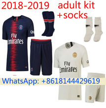 145cf566f Free patch 2018 PSG Thai AAA Top quality football jerseys Qualit Men Soccer  jersey 18 19 Home blue Away red 3RD white shirt