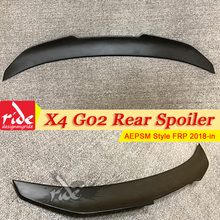 Fits For BMW X4 G02 XM Look Trunk Wing Roof Spoiler FRP Unpainted Black PSM Style X4M Rear Bumper Lid Wings 18-in