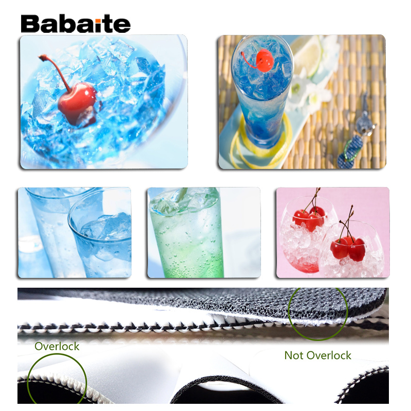 Babaite Non Slip PC Cocktail Laptop Computer Mousepad Size for 18x22cm 25x29cm Rubber Mousemats
