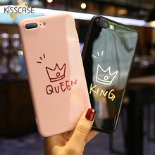 KISSCASE Couple Crown Queen King Phone For iPhone  6 6s 7 8 Plus Cover Lovely Phone Cases For iPhone 6 6s 7 8 Plus X XS Conqu crown cr401 7