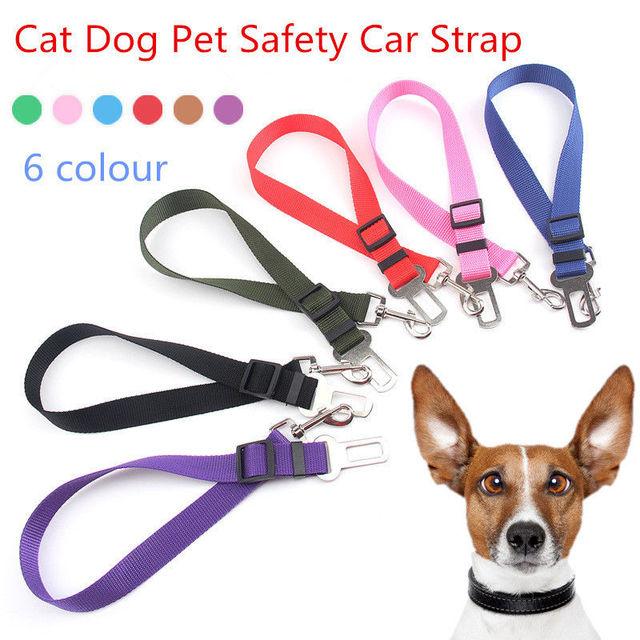 Pet Seat Belt >> Cat Dog Pet Safety Car Vehicle Strap Seatbelt Seat Belt Adjustable