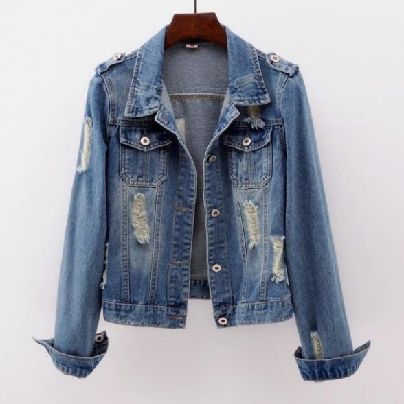 2019 Plus Size 5XL Denim Jacket Women Boyfriend Jean Coat Streetwear Harajuku Vintage Autumn Basic Outerwear Innrech Market.com