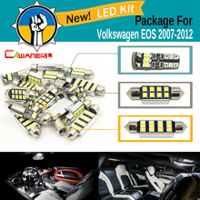 Cawanerl Car Canbus LED Package Kit White 2835 SMD Interior Dome Glove Box License Plate Light For VW Volkswagen EOS 2007-2012