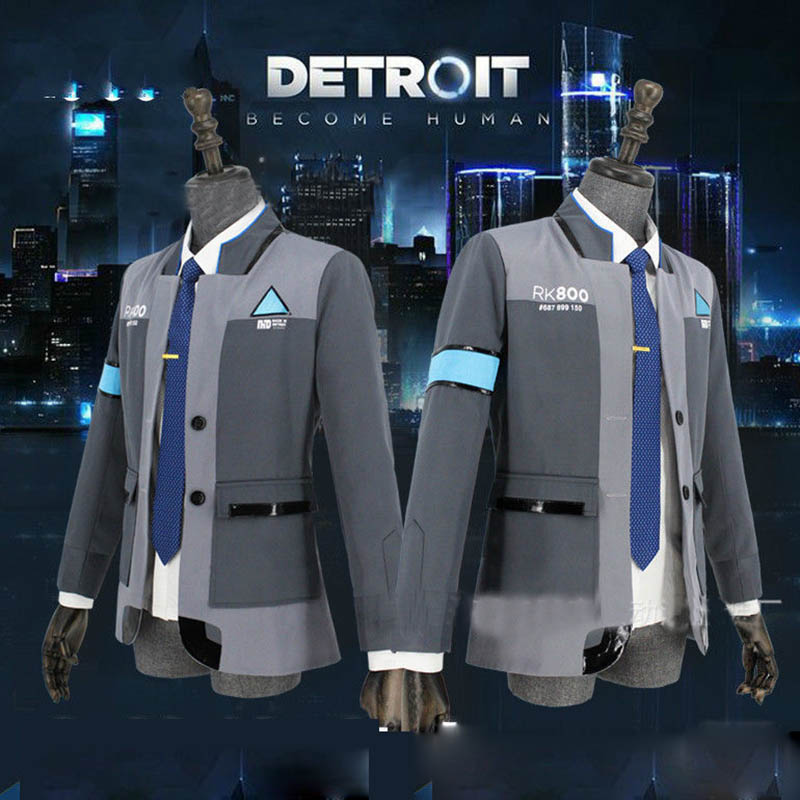Detroit Become Human Cosplay Costume Android Bryan Dechart RK800 CosDaddy