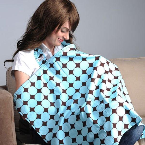 Уход за кожей ребенка для кормящих женщин мама медсестры носить с пакетом и подушечками хлопок груди-Накидки для кормления - Цвет: Blue Circles