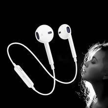 Bluetooth Earphone Sport Wireless Headset Portable Bluetooth Earbuds Headphone Mic Earphone For Phone IPhone Xiaomi Huawei original xiaomi bluetooth collar earphone sport wireless bluetooth headset in ear magnetic mic play dual dynamic headphone