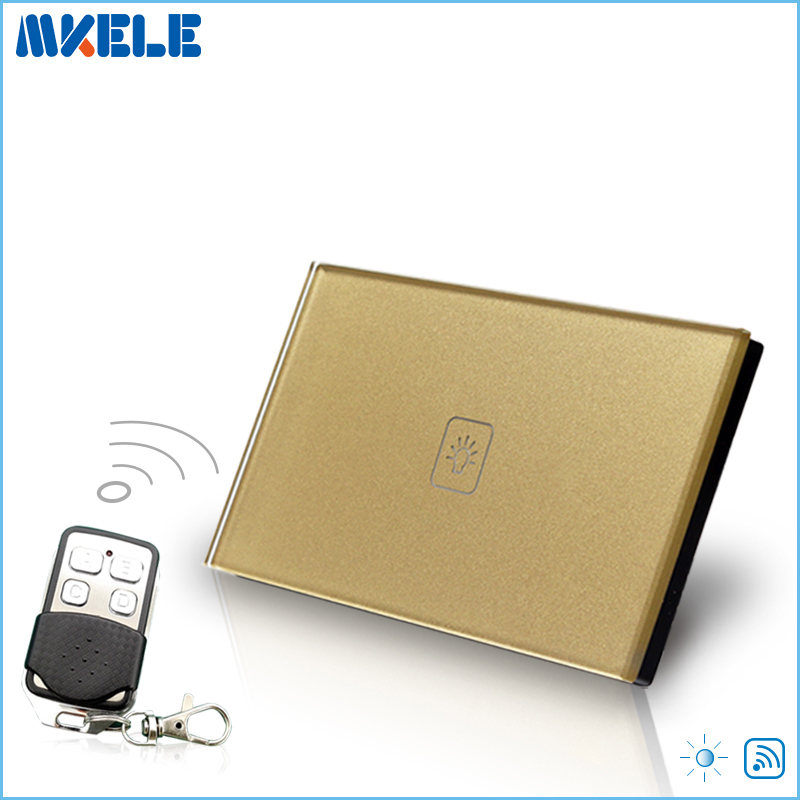 Remote Dimmer Switch US Standard Controller Dimmer Touch Sensor Switch 1 Gang 1 way Gold Glass Panel+LED игрушечная посуда нордпласт игрушечная посуда
