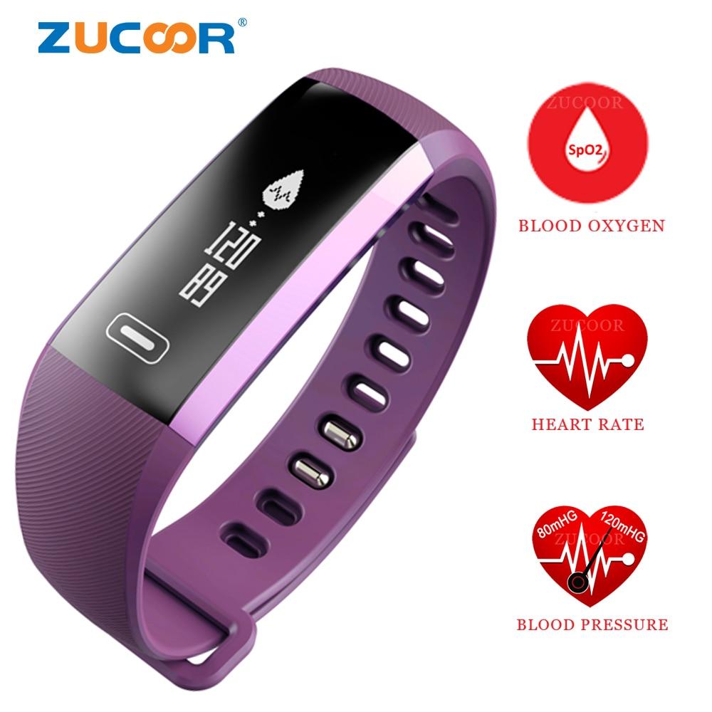 imágenes para Banda de la Muñeca inteligente Reloj de Pulsera Brazalete de Presión Arterial Monitor Del Ritmo cardíaco del Pulso de Oxígeno Inteligente Smartwatch Para Android iOS