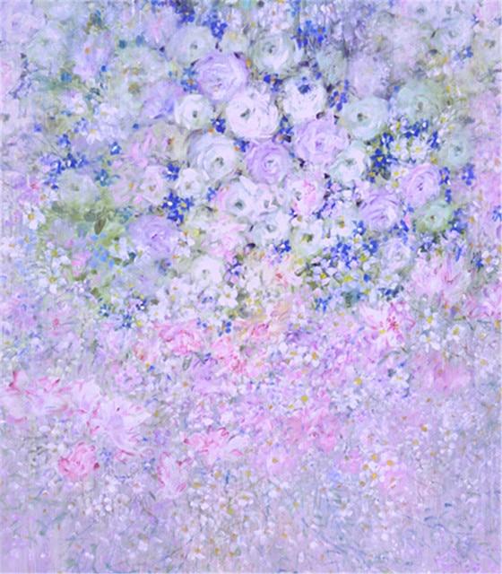 5X7ft Beautiful Light Purple Flowers Wedding Photo Studio Wedding