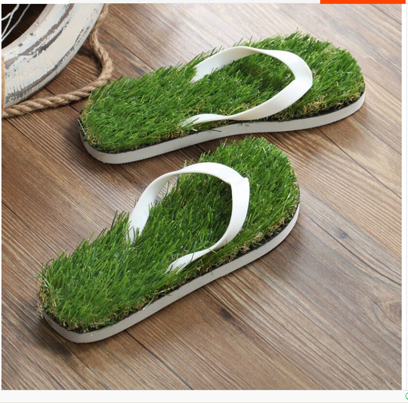 2017 New Women Imitation Grass Flip Flops For Woman Summer Beach Flat Shoe Out Sandals Slipper Ladies Sandalias Mujer Lovers new hollow out flip flops flat pvc holes sandals women 2016 summer beach shoes solid colors woman footwear