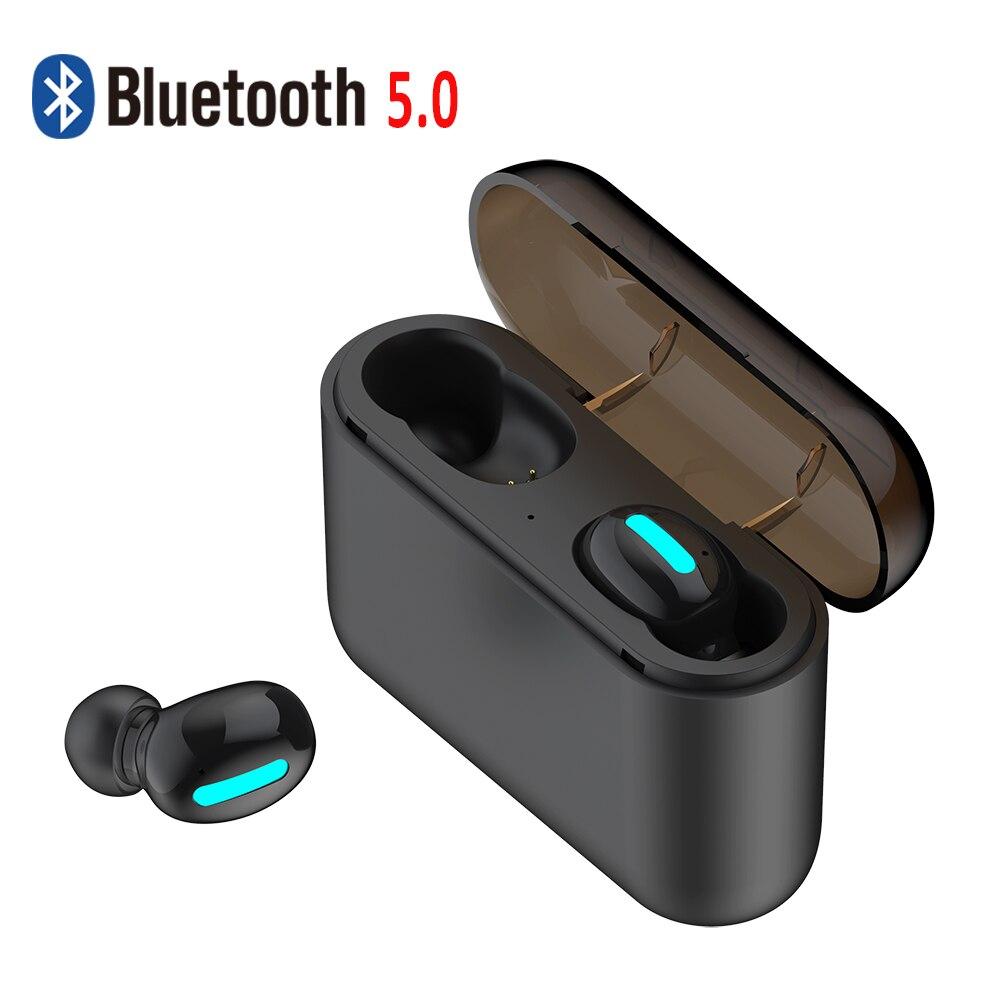 Headset Mini True Wireless Earphones Bluetooth 5.0 Headphones with Smallest Body Sport Earbuds Portable 1500mAh Charging case