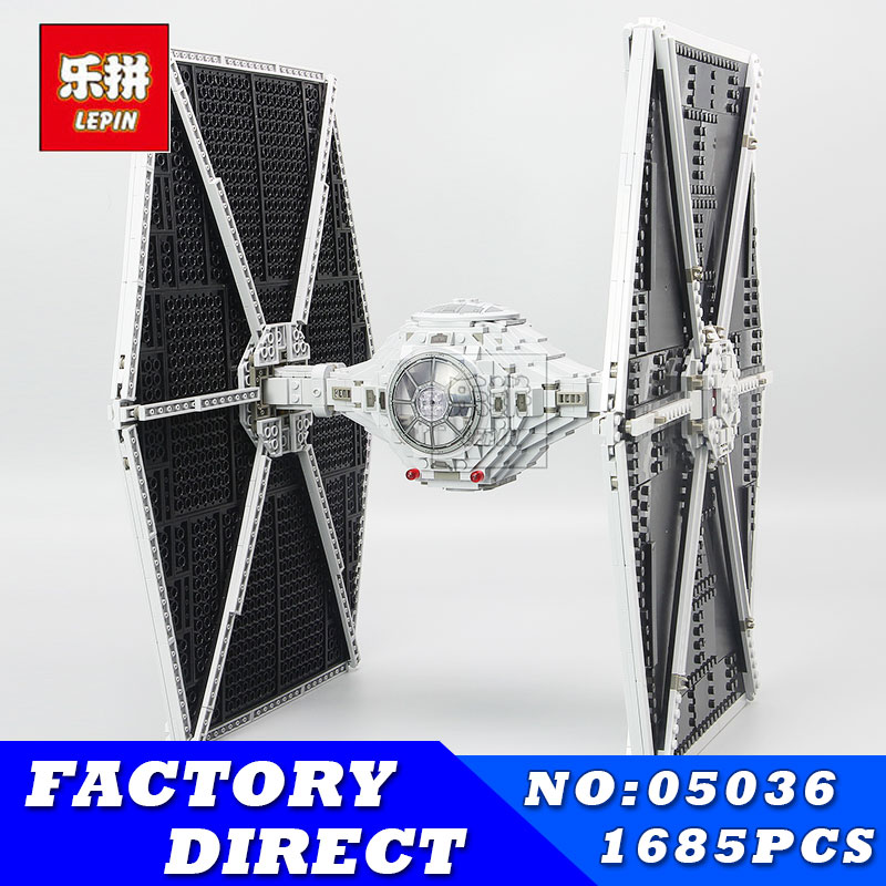 LEPIN 05036 1685Pcs Star Series Wars Tie Fighter Building Blocks Bricks Set Children Educational Toys Compatible 75095 Gift lepin 05036 1685pcs star series wars tie building fighter educational blocks bricks toys christmas gifts compatible 75095